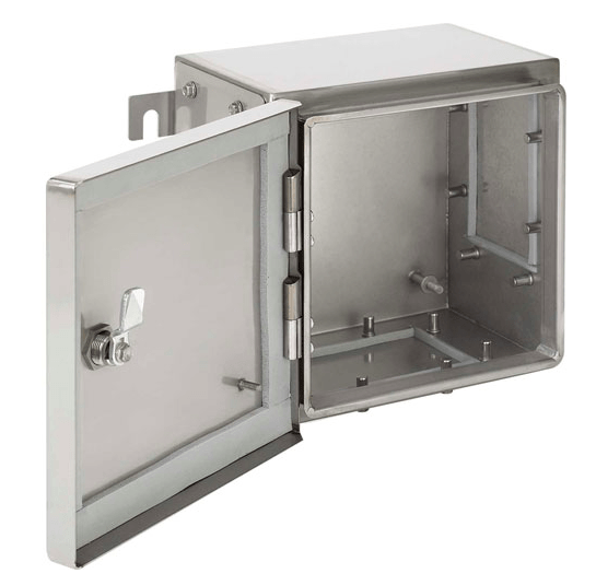 Explosion Proof Enclosure front view silver open door