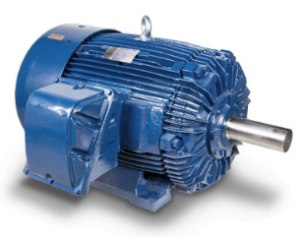 explosion proof motor blue side view
