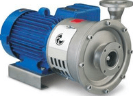 explosion proof pump side view blue
