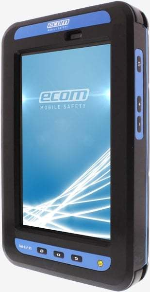Intrinsically Safe Tablet Ecom Zone 1 Division 1 Android front side view