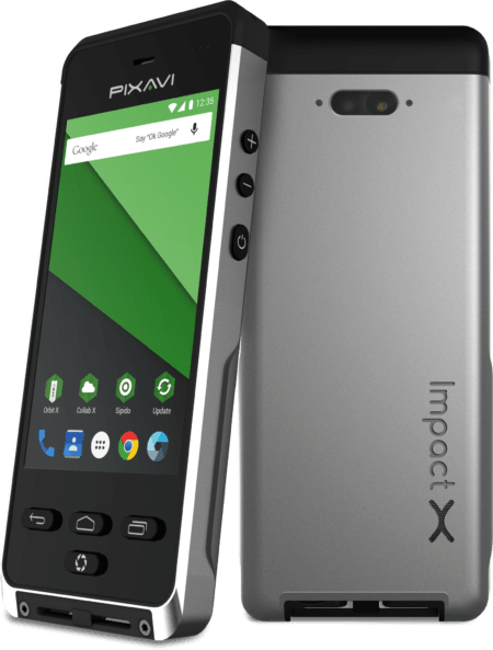 Impact X NC Bartec No Camera Intrinsically Safe Cell Phone front view and back