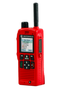 intrinsically safe radio red with buttons