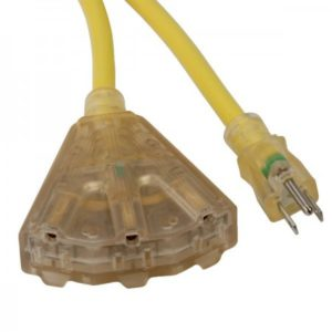 Bayco Extension Cord with Lighted End & 3 Outlets SL-74L Series Main image