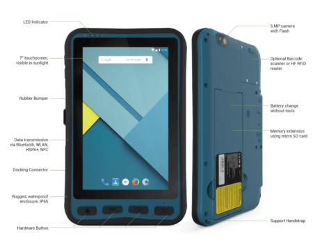 Lumen X7 Tablet Bartec Specifications