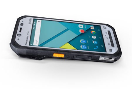Intrinsically Safe Tablet Panasonic FZ-N1 Facing Up