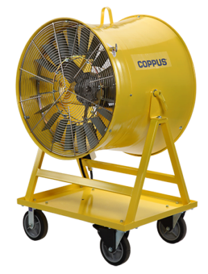 Intrinsically Safe Ventilator COPPUS Double-Duty Heat Killer