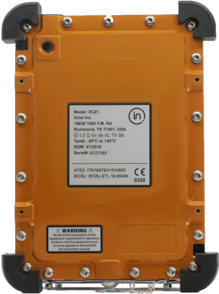 Intrinsically Safe iPad Mini 5 Case ATEX Zone 1 Back Image