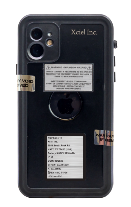 Intrinsically Safe iPhone XS Max Case ATEX Zone 2 Back Image