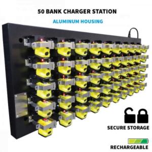 Nightstick Cap Lamp 50 Bank Charging Station Main Image