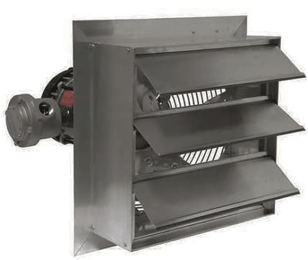 Axial Explosion Proof Fan Canarm AX12-4 with shutters