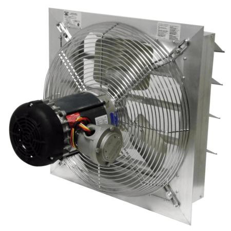Axial Explosion Proof Fan Canarm AX16-4 Inch Fan Size shutter
