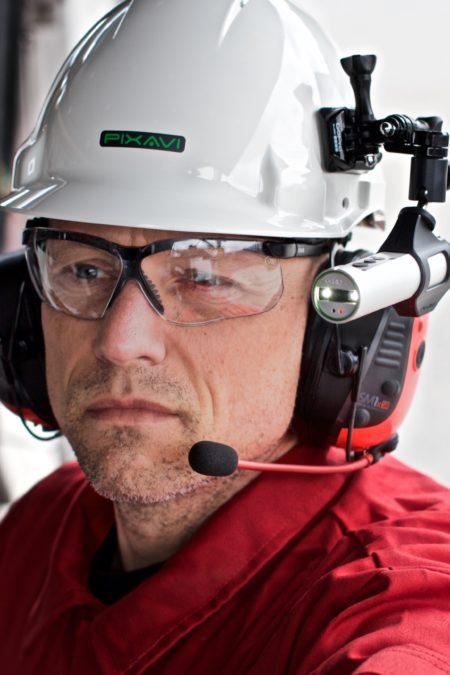 Intrinsically Safe Camera Orbit X Bartec helmet angle