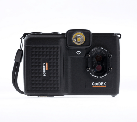 Intrinsically Safe Camera ToughPix DigiTherm TP3rEx CorDEX Front view with lens