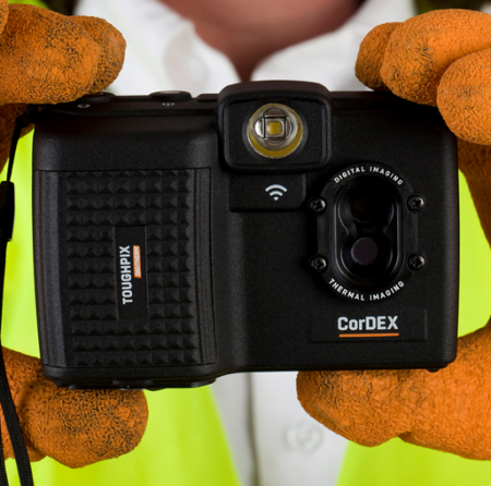 Intrinsically Safe Camera ToughPix DigiTherm TP3rEx CorDEX Size and Image