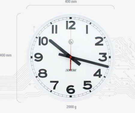 Intrinsically Safe Clock Ecom Ex-Time 40 Dimensions Image
