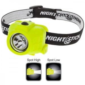 Intrinsically Safe Flashlight NightStick XPP-5452G ratchet tilt head