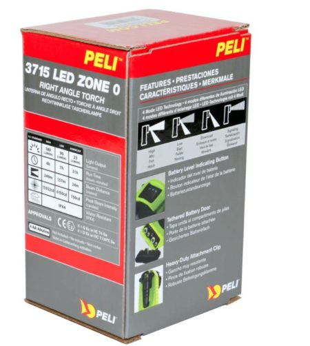 Intrinsically Safe Handlamps Peli 3715 LED Z0 Zone 0 right angle torch