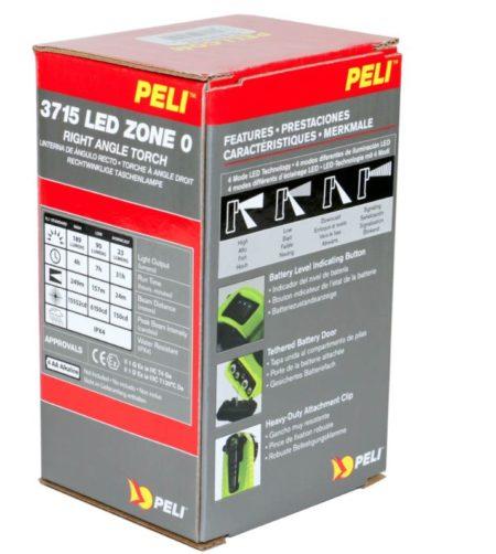 Intrinsically Safe Handlamps Peli 3715 LED Z0 Zone 0 right angle torch