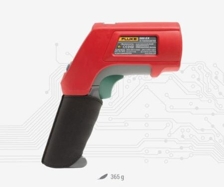 Intrinsically Safe Infrared Thermometer Ecom Fluke 568 EX Dimensions Infrared