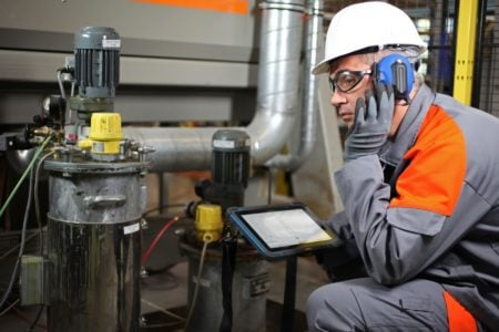Intrinsically Safe Tablet Agile X Bartec Connect to Headset
