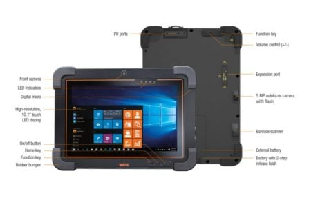 Intrinsically Safe Tablet Agile X IS Bartec Knowing the Functions