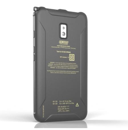 Intrinsically Safe Tablet Ecom Tab-Ex 02 ATEX Zone 2 Div 2 Back Side