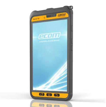 Intrinsically Safe Tablet Ecom Tab-Ex 02 ATEX Zone 2 Side View
