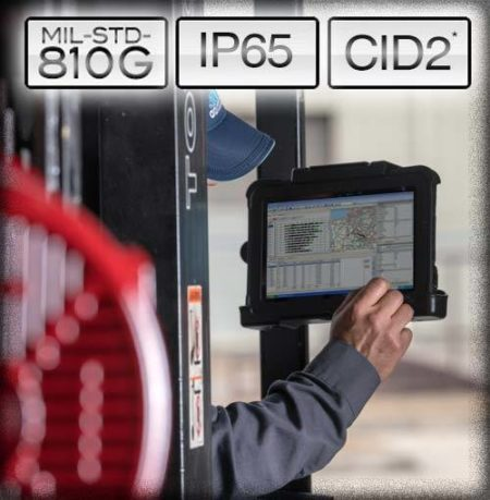 Intrinsically Safe Tablet Xplore XPAD L10 Man Using the Device