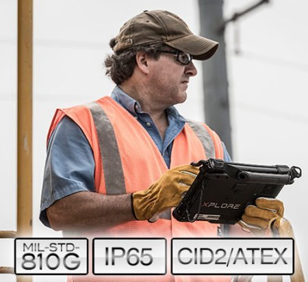 Intrinsically Safe Tablet Xplore XSLATE B10 C1D2 ATEX Certified