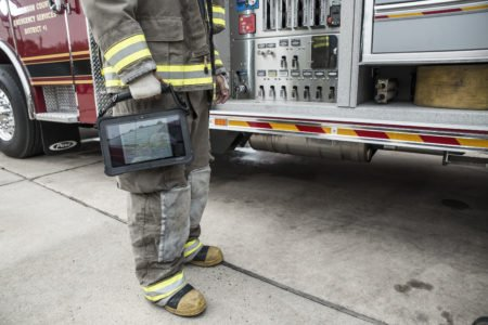 Intrinsically Safe Tablet Xplore XSlate D10 Fire Use