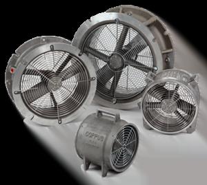 Intrinsically Safe Ventilators COPPUS Reaction Fans