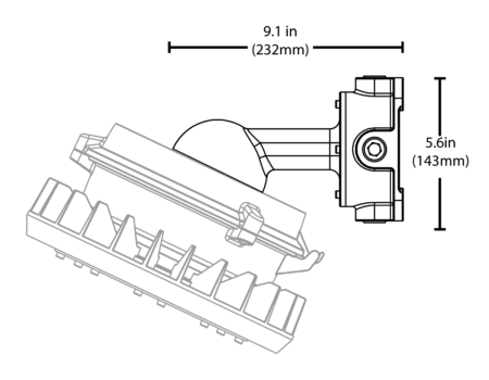 Nicor-25-Degree-Wall-Mount-XPR1WALLMOUNT25-Eres-Schematic-Line-Drawing