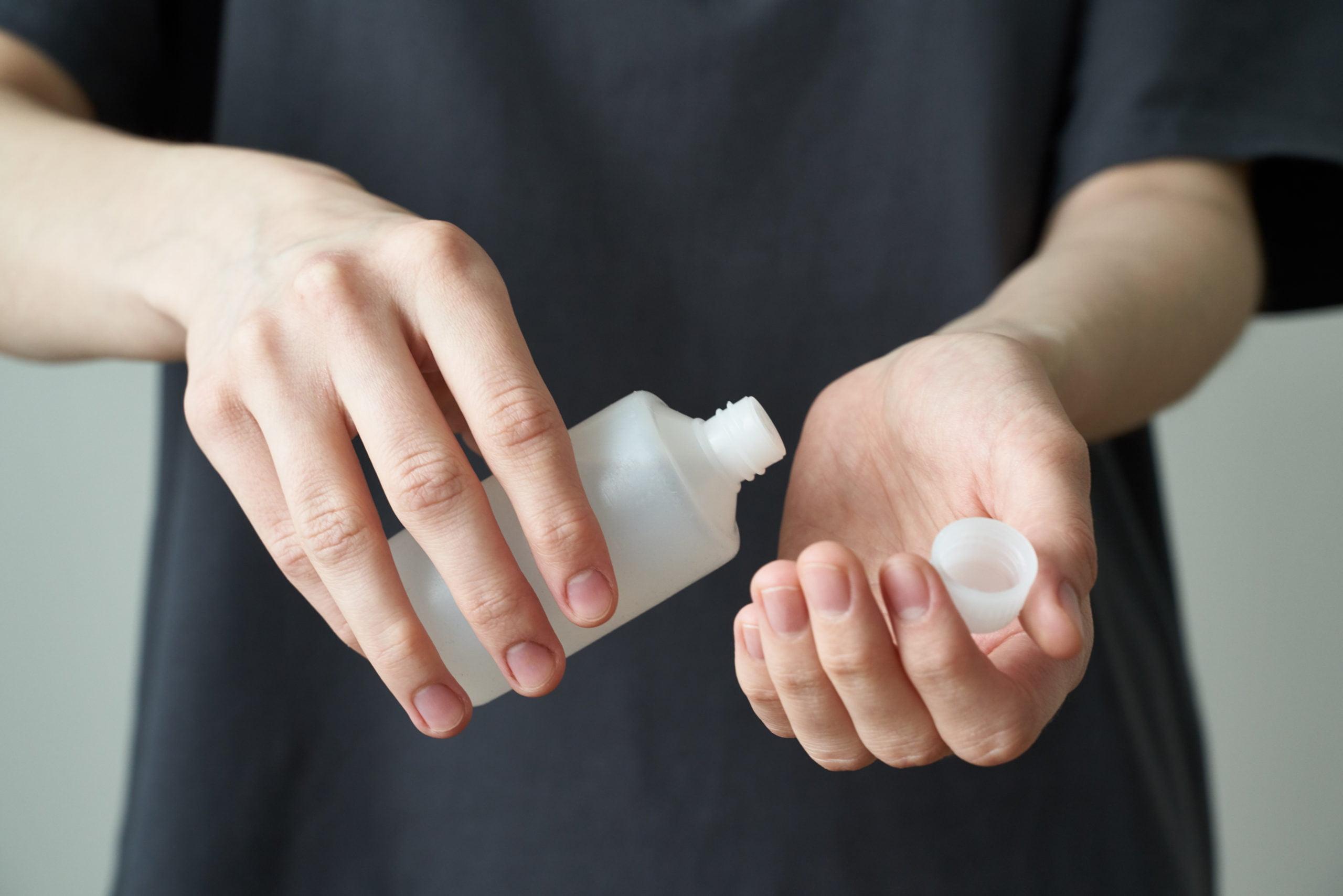 Intrinsically safe store hand sanitizer